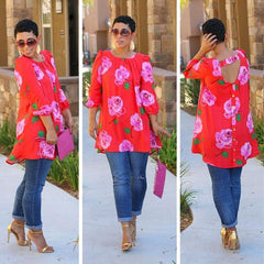 Autumn African T Shirts Floral Print Plus Size African Clothing Dashiki Shirt Bl