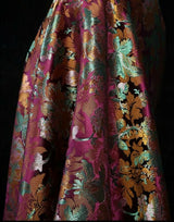 BY THE YARD - HIGH QUALITY FLORAL BROCADE JACQUARD FABRIC W-55""