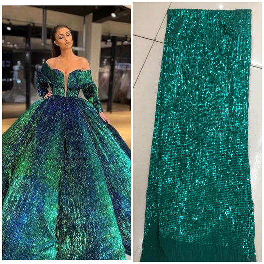 sequin lace fabric print fabric pleated chiffon 2019 women nigerian lace fabrics 3 yards DYSZP26