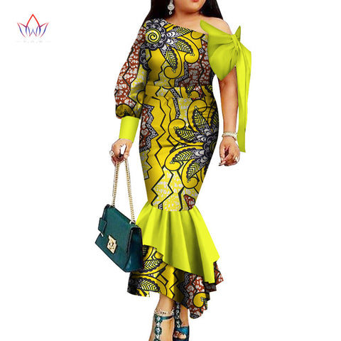 summer plus size women clothing Maxi Dress Dashiki african dress for women in african clothing party long dress natural  WY3324
