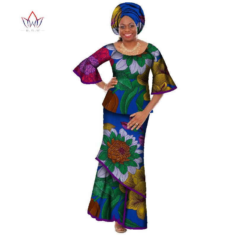 5e2395fd003 ... summer traditional african clothing dashiki O-Neck women african skirt  suits natural ankle-length ...