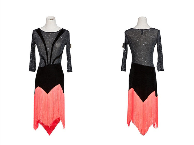 e059b7fa85f2 transparent latin dance dress for practice women latin salsa dress modern  dance costumes latin dress dance. Hover to zoom
