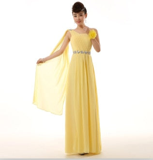 e93e03bc2aafb turquoise green bride maid yellow red chiffon one shoulder bridesmaid  dresses red bridesmaids dress for weddings free shipping