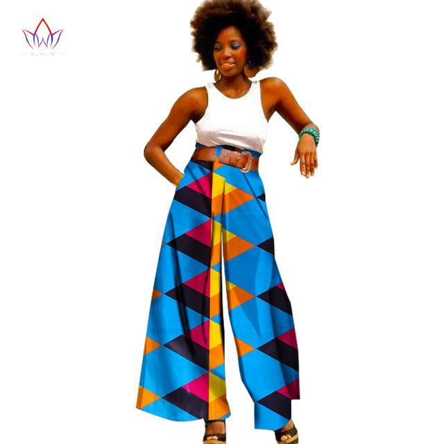 4c04877f5e9 2018 Fashion African Print Pants Plus Size African Clothing for Women  Dashiki Office High Waist Loose. Hover to zoom