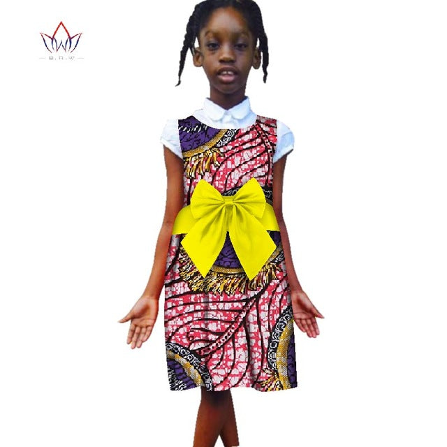 d46258580b6 Hover to zoom · Fashion 2018 New Style Africa Dress for Children Dashiki Cute  Girls Dresses Bazin Riche Bowknot Sweet