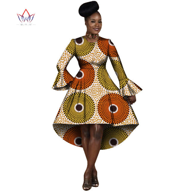 67112a6a129 African Dresses for Women Winter Dresses Women 2017 Long Sleeve Dress  O-Neck Bazin Rich. Hover to zoom