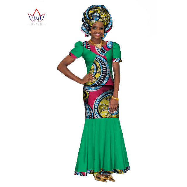 e01d4a30d Summer Women Dress Traditional African Traditional 2 Pieces Women Set  Clothing Custom Made Tops + Skirts. Hover to zoom