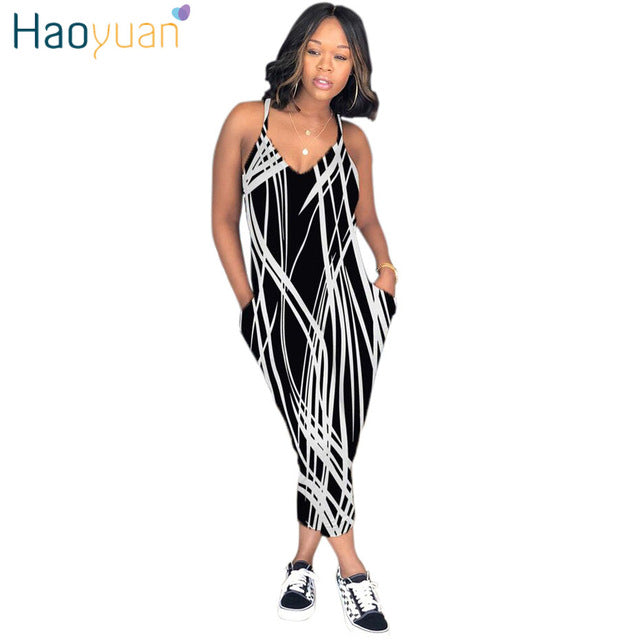 e5673494a2 HAOYUAN Plus Size Sexy Spaghetti Strap Rompers Womens Jumpsuit Rainbow Tie  Dye Print Backless Leotard Overalls Casual Jumpsuits