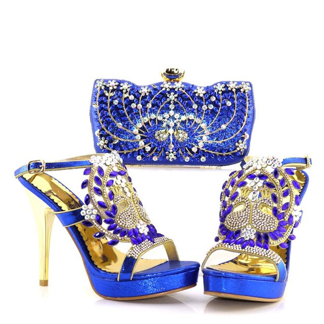 546a13cef6f9 ... Red Color Italian Shoes with Matching Bag for Wedding Italy Nigerian  Shoe and Matching Bag African ...