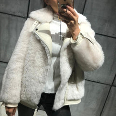 women Australia wool jacket lady wool jacket real wool fur jacket