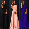 Image of Beautiful Womens Long Chiffon 3/4 Sleeve Evening Formal Party Prom Gown Maxi Dress