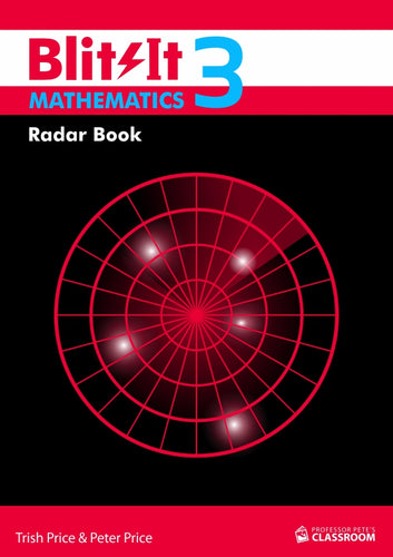 BlitzIt Mathematics 3: Radar Book (physical product; 1 per student) - Professor Pete's Classroom