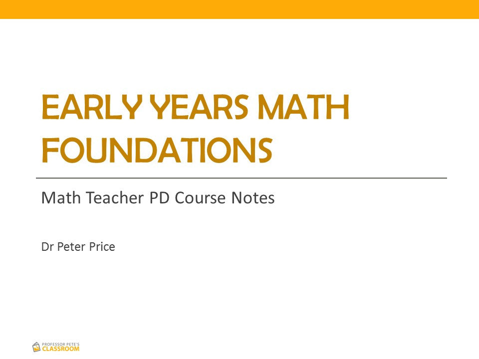 Online K-6 Math PD Course: Early Years Mathematics Foundations ...