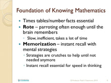 Online K-6 Math PD Course: Developing Number Fluency - Professor Pete's Classroom