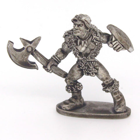 Barbarian with Large Single Bladed Axe & Shield (0093)