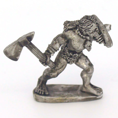 Barbarian with Single Bladed Axe & Shield Advancing (0096)