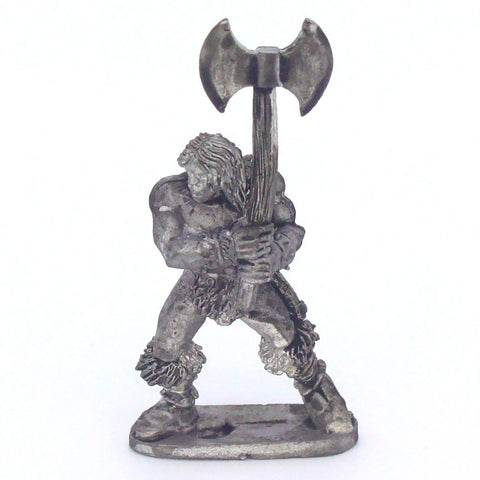 Barbarian Hero With Double Bladed Axe (0111)