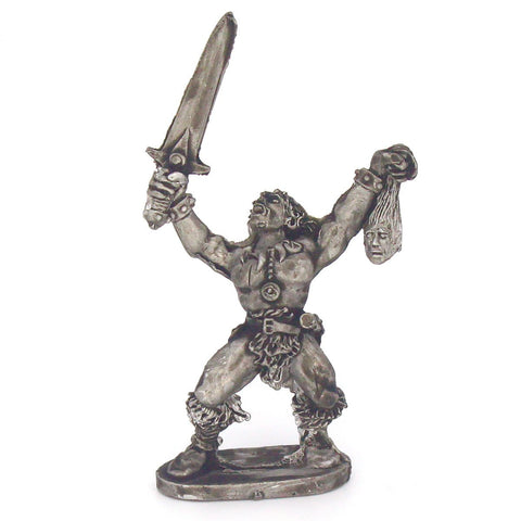 Barbarian Berserker With Sword & Severed Head (0118)