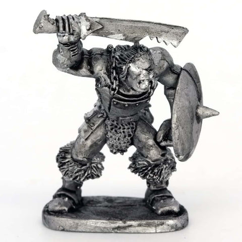 Half Orc Warrior attacking with sword and shield (0170)