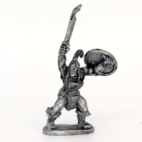 Half Orc Leader with sword and shield (0172)