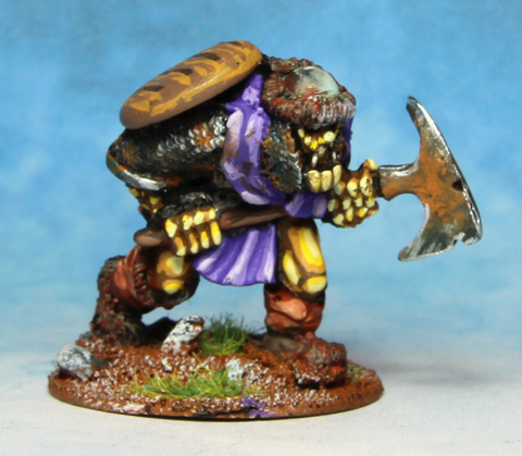 Orc with Large Axe and shield across back (0205)