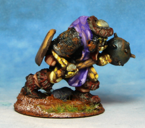Orc with Large Mace and shield across back (0207)