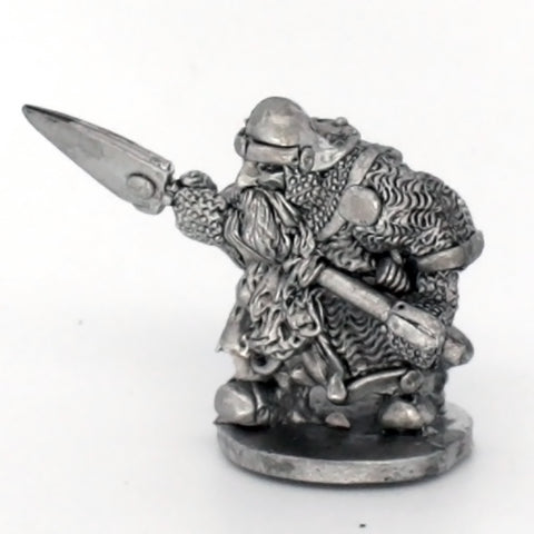 Dwarf Advancing With Spear (0235)