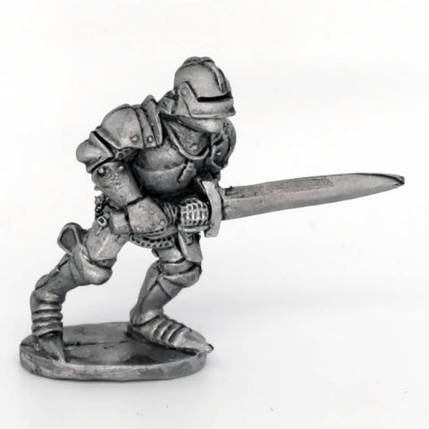Medieval Knight Charging With Sword (0264)
