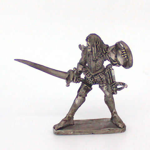 Dark Elf With Sword and Shield (0296)
