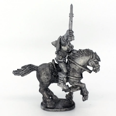 Barbarian Cavalry holding axe aloft 1 (0394)