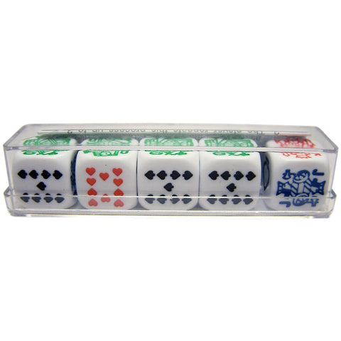16mm Poker Dice in plastic box
