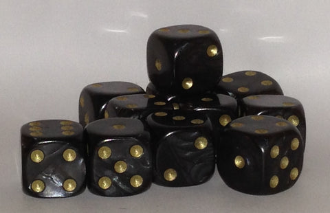 10 x 16mm black pearl