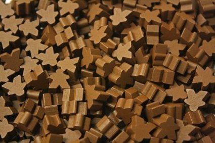 10 x Brown Standard Meeples (16mm)
