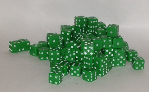 100 x 7mm green opaque