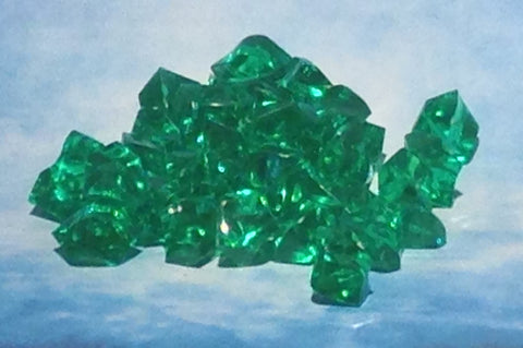 50 x Crystal Gems Green