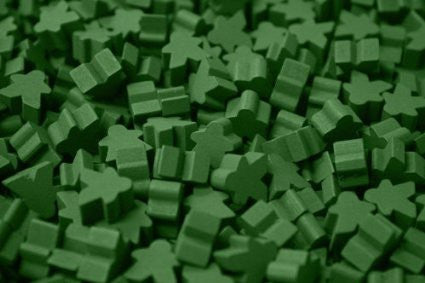 10 x Green Mini Meeple (12mm)