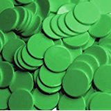 100 x 22mm Green Counter