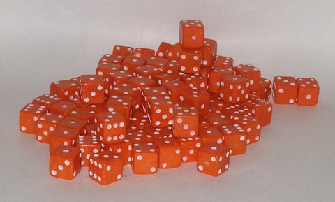 100 x 7mm orange opaque
