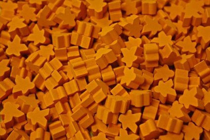 10 x Orange Mini Meeple (12mm)