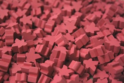 10 x Pink Mini Meeple (12mm)