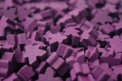 10 x Purple Mini Meeple (12mm)