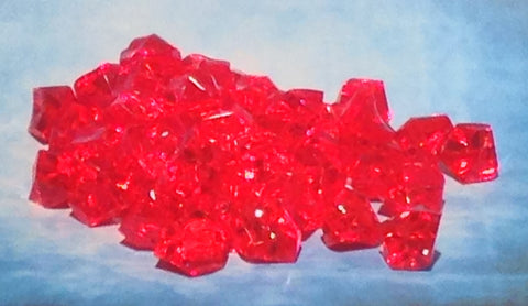 50 x Crystal Gems Red