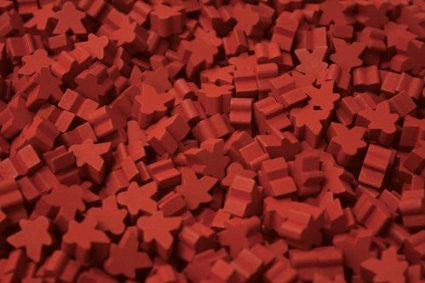 10 x Red Mini Meeple (12mm)