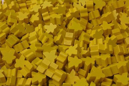 10 x Yellow Mini Meeple (12mm)