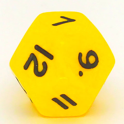 Opaque D12 yellow