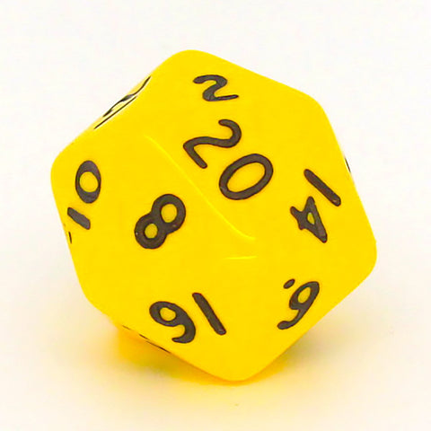 Opaque D20 yellow