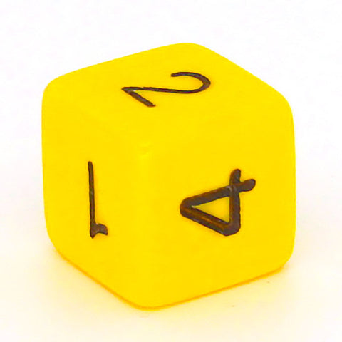 Opaque D6 yellow