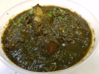 Aloo Makai Saag  (Cream Spinach with Corn and Potatoes)