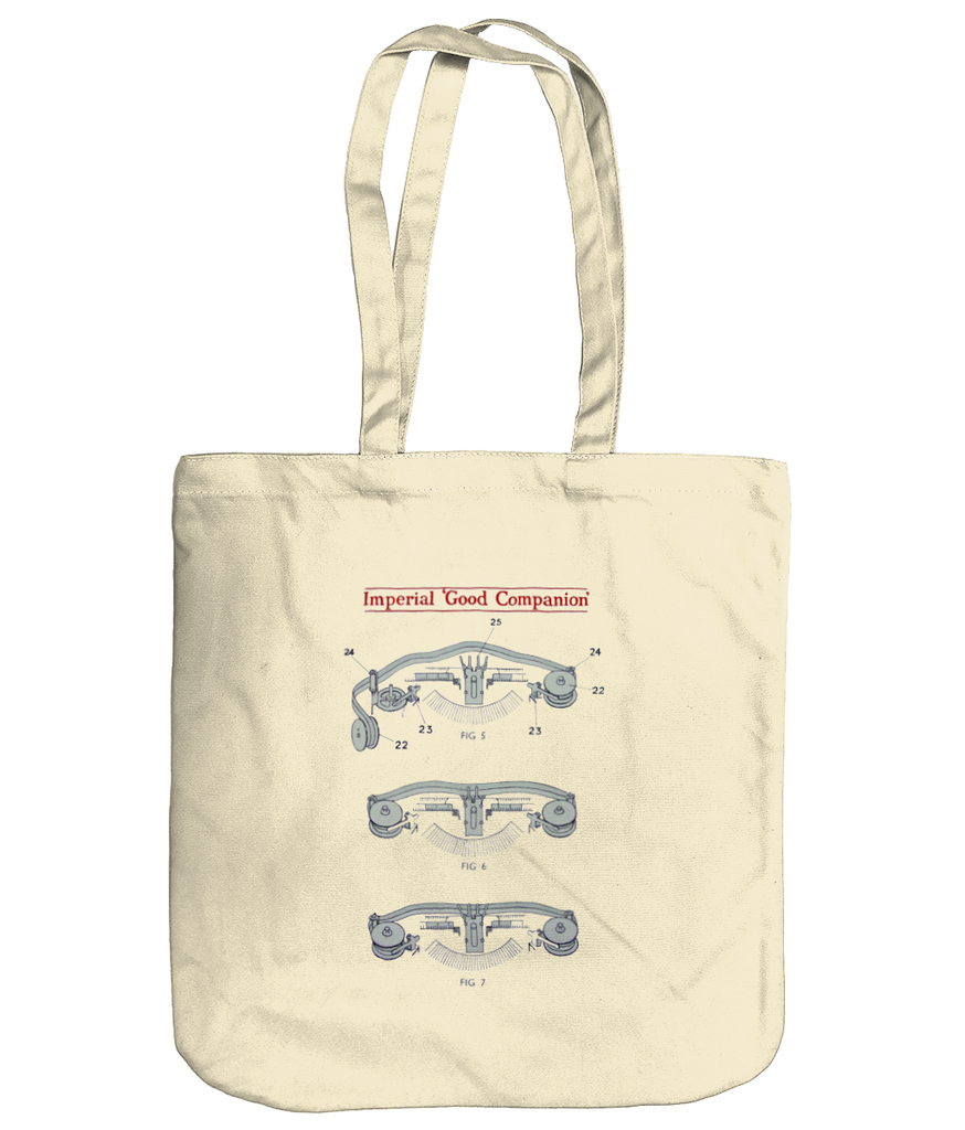 Imperial Ribbon & Spool Cotton Canvas Tote Bag