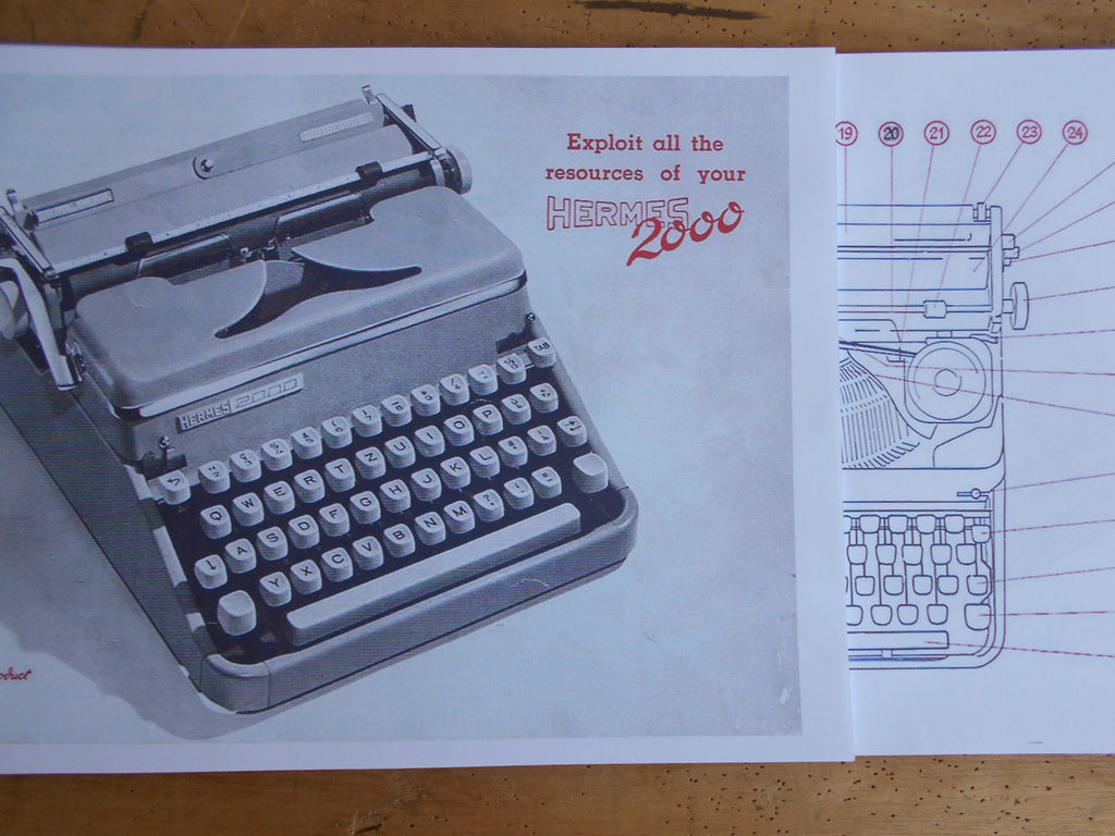Typewriter, 1957 Hermes 2000 portable